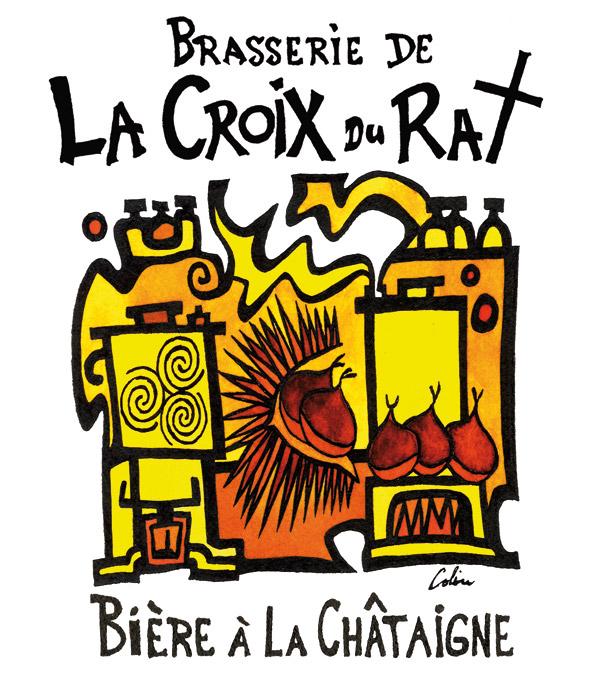 Le dessin montre les étapes de fabrication du bière a la chataigne